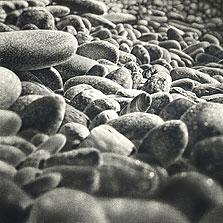 Joni's Rocks 30x30 2003 conte crayon on paper