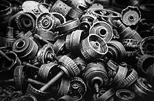 Auto Parts #2 42x60 2002 conte crayon on paper