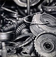 Auto Parts #1 40x40 2002 conte crayon on paper