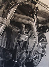 Grant's Bike 72x60 2009 conte crayon on paper, private commission