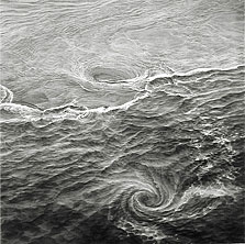 Water #2 (Spuyten Duyvil) 60x60 2005 conte crayon on paper