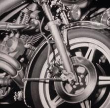 Motorcycle 84x84 1998 conte crayon, watercolor on paper