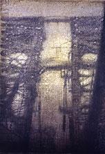Tressle #21  60x44  1995 conte crayon, watercolor on paper