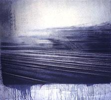Berlin #2  54x60   1995 conte crayon, watercolor on paper