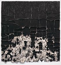 Black Lace,  conté crayon on rag paper, 52 x 50 inches