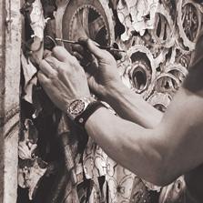 Joseph Stashkevetch in studio: Gluing