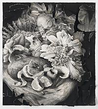 Memento Mori, conte crayon on rag paper, 34x36