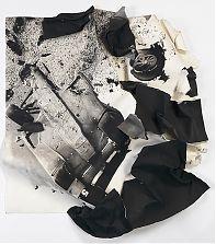 Crash, conte crayon on layered rag paper, 57x51