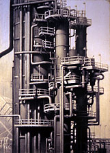 L.A. Refinery #1 70x45 1997 conte crayon, watercolor on paper