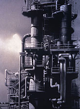 L.A. Refinery #2 60x40 1997 conte crayon, watercolor on paper