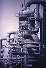 L.A. Refinery #3 60x42 199 conte crayon, watercolor on paper