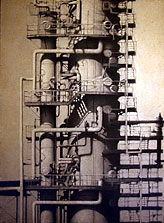 L.A. Refinery #5 61x44 1999 conte crayon, watercolor on paper