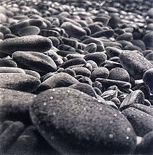 Rocks #10 30x30 2002 conte crayon on paper